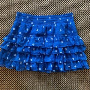 Polka Dot layered mini skirt